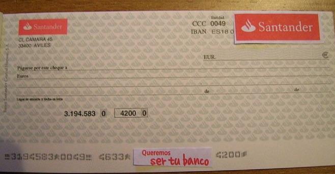 Cómo Endosar un Cheque Santander