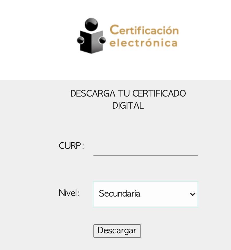 Imprimir Certificado de Secundaria por Internet