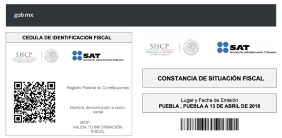 Imprimir RFC SAT con homoclave gratis